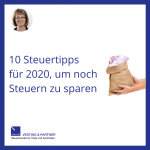 10 Steuertipps für 2020, um noch Steuern zu sparen